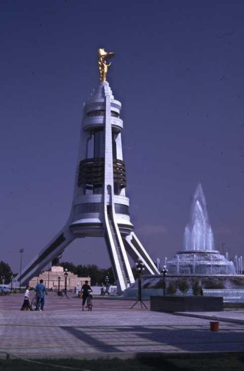 http://www.theorientalcaravan.com/images/Turkmenistan/Ashkhabad%20Monument%201.jpg